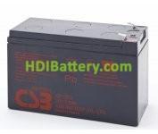 Batería para moto electrica 12v 7.2ah Plomo AGM GP1272 CSB(Alto rendimiento)